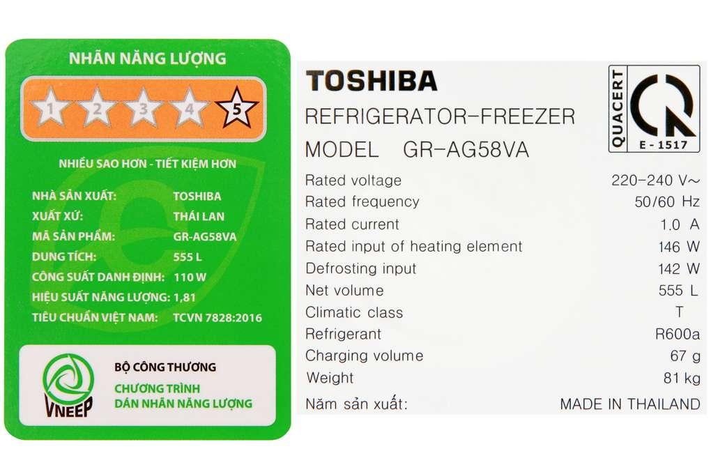 Tu Lanh Toshiba Gr Ag58va Gg 14 Org