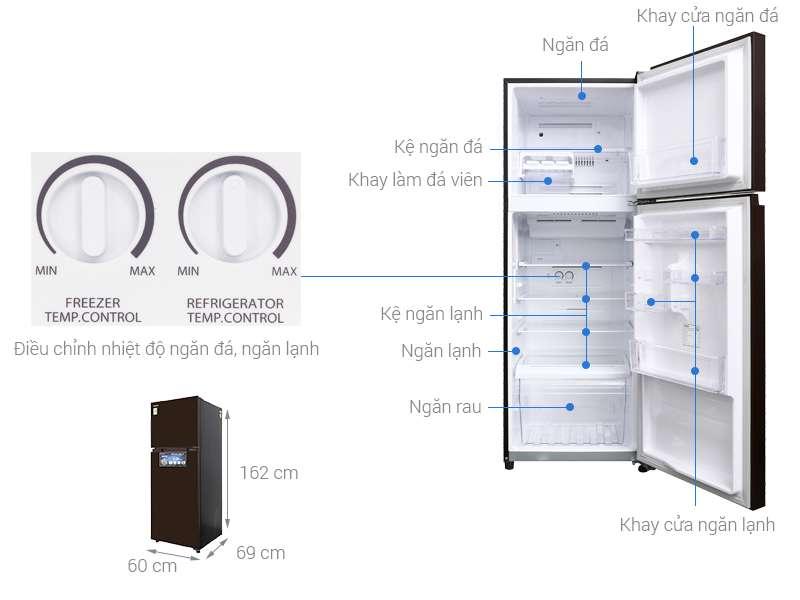 Thông số kỹ thuật Tủ lạnh Toshiba Inverter 305 lít GR-AG36VUBZ XB1