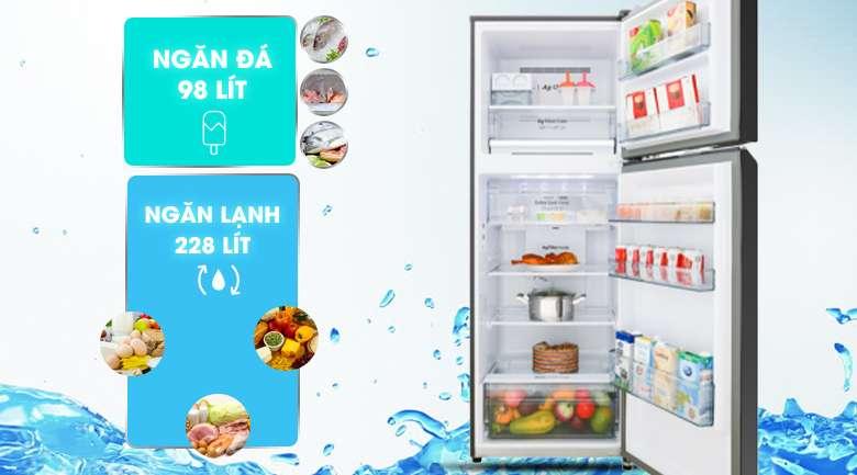 Dung tích 326 lít - Tủ lạnh Panasonic Inverter 326 lít NR-BL351GKVN