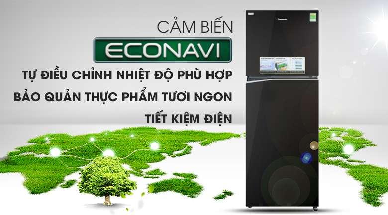 Cảm biến Econavi - Tủ lạnh Panasonic Inverter 326 lít NR-BL351GKVN