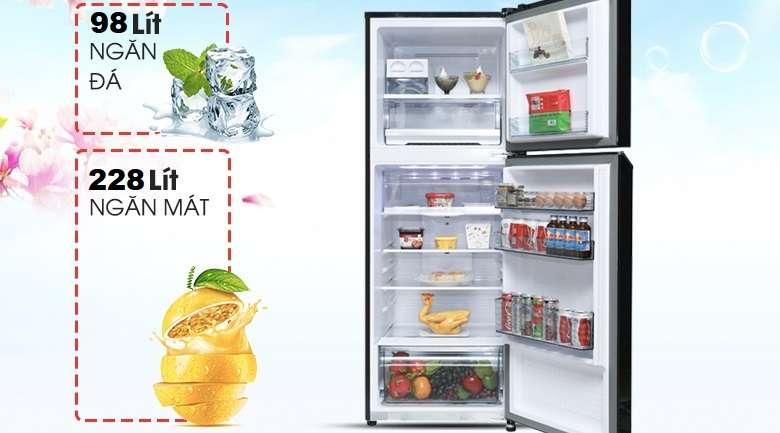 Dung tích 326 lít - Tủ lạnh Panasonic Inverter 326 lít NR-BL351WKVN