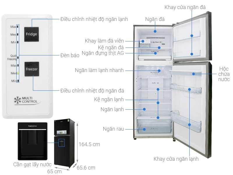 Thông số kỹ thuật Tủ lạnh Panasonic Inverter 326 lít NR-BL351WKVN