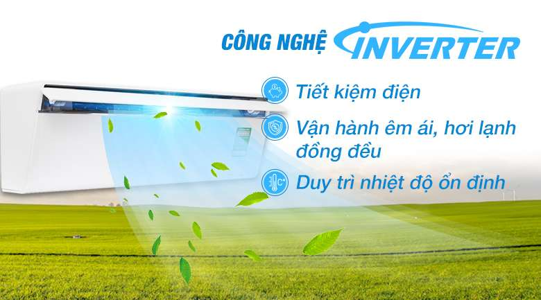 Công nghệ Inverter - Máy lạnh Panasonic Inverter 1.5 HP CU/CS-VU12UKH-8
