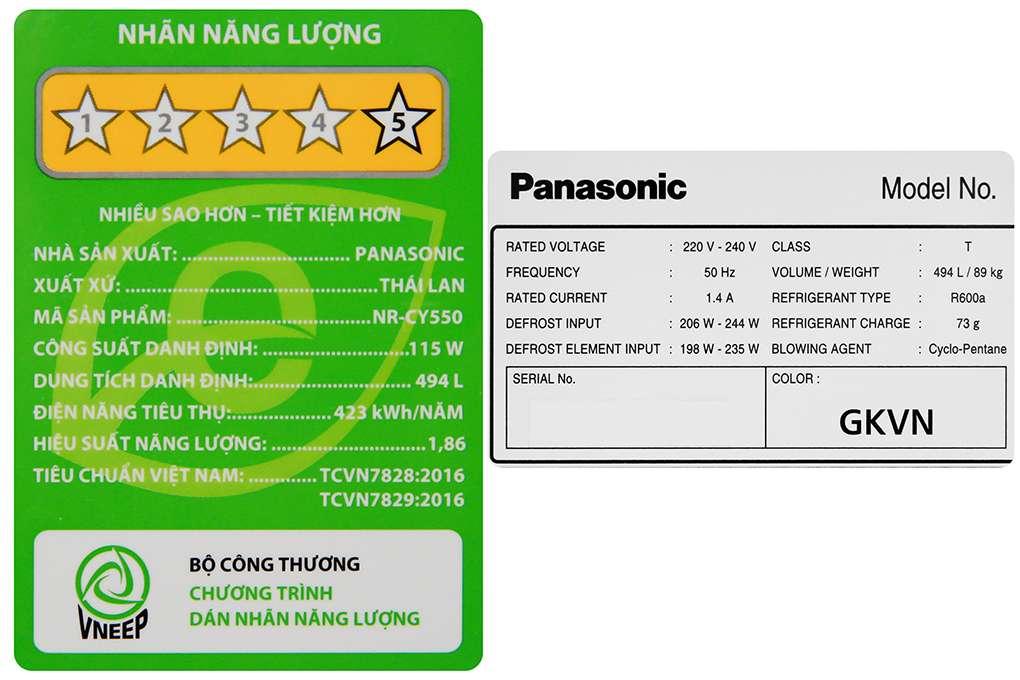 Panasonic Nr Cy550gkvn 13 Org